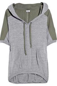Splendid Cotton Panelled Hooded Sweatshirt