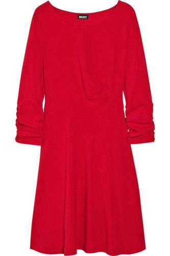 DKNY Ruched Crepe Dress