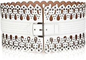 Alaia Laser-Cut Leather Waist Belt