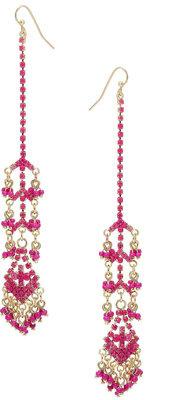 Topshop Fuchsia Drop Earrings