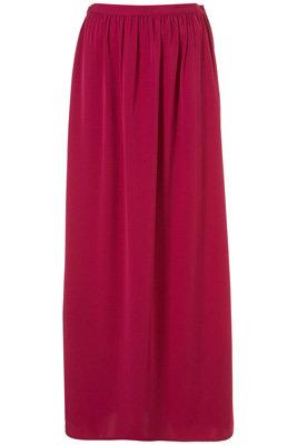 Topshop Gathered Split Side Maxi Skirt