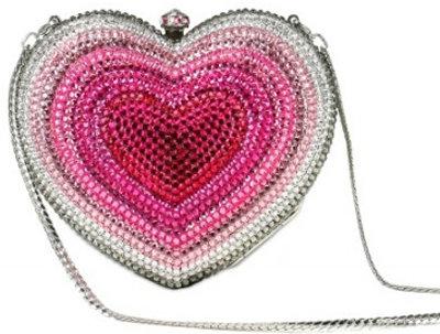 San Blas Faded Crystal Heart Clutch