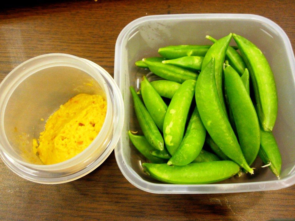 Snap Peas and Hummus