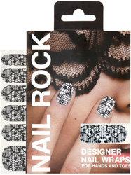 Nail Rock Lace Print Designer Wraps