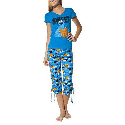Sesame Street Cookie Monster PJ Set