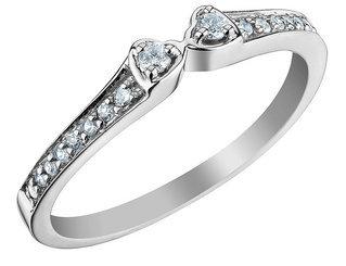 Diamond Heart Wedding Band