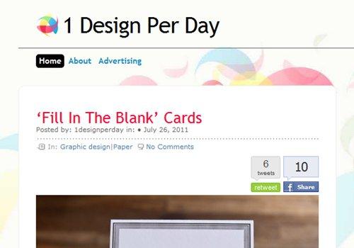 1 Design per Day