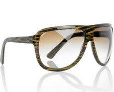 Stella McCartney Metallic Striped Sunglasses