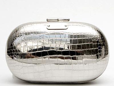 Alexander McQueen Stamped Crocodile Minaudière