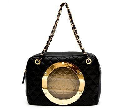 Chanel Leather U-Boat Handbag