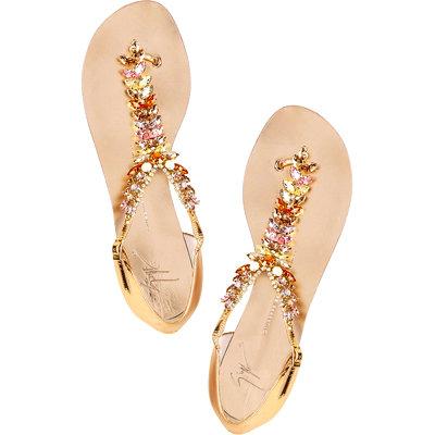 Giuseppe Zanotti Rock Flat Sandals