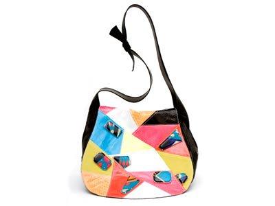 Emilio Pucci Leather & Python Patchwork Shoulder Bag