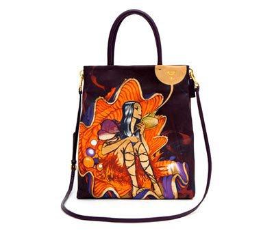 Prada Printed Leather Bag