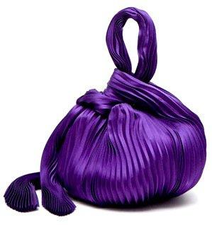 Giorgio Armani Knotted Silk Evening Bag