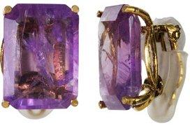 Amethyst Gemstone Clip-on Earrings