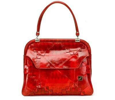 Salvatore Ferragamo Red Hardwick Bag with Origami Detail