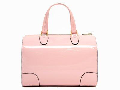 Valextra Patent Leather Boston Bag