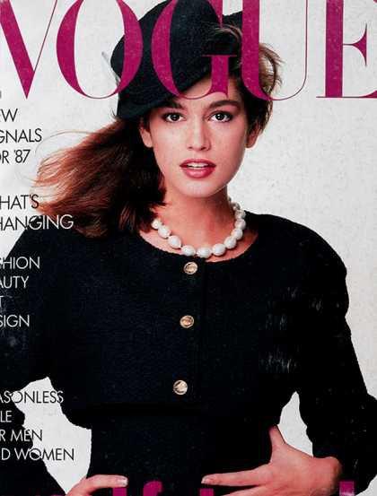 Cindy Crawford - January, 1987