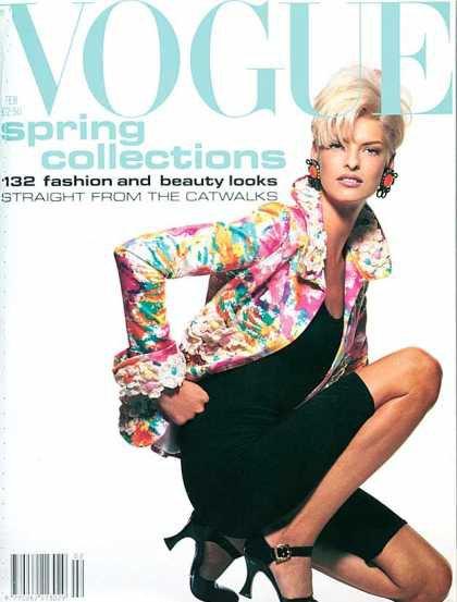 Linda Evangelista - February, 1991