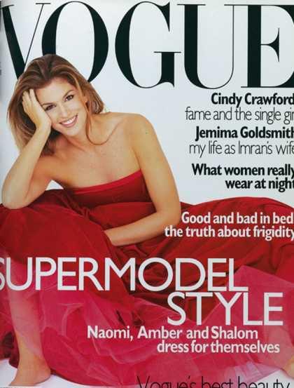 Cindy Crawford - December, 1995
