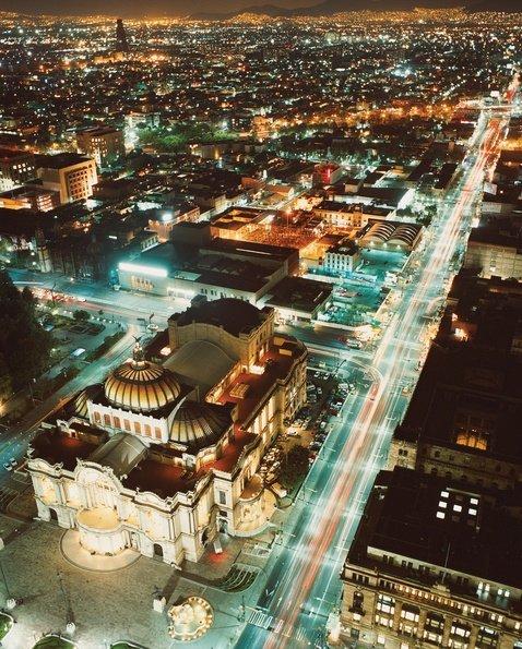 Palacio de Bellas Artes,landmark,city,cityscape,aerial photography,