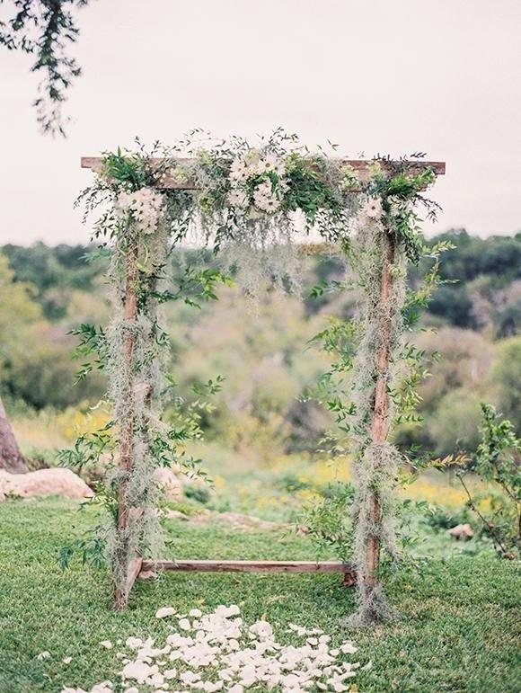 Bohemian Wedding Arbor with Daisies