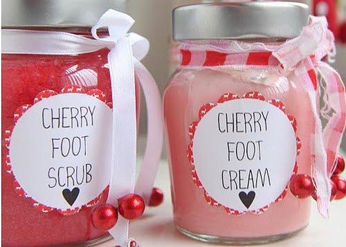 Cherry Foot Scrub and Cream