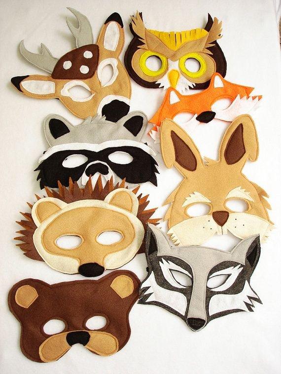 Animal Felt Masks