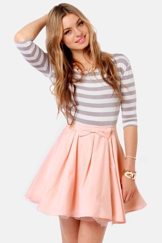 Peach Bow Skirt