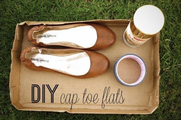 DIY Cap Toe Flats