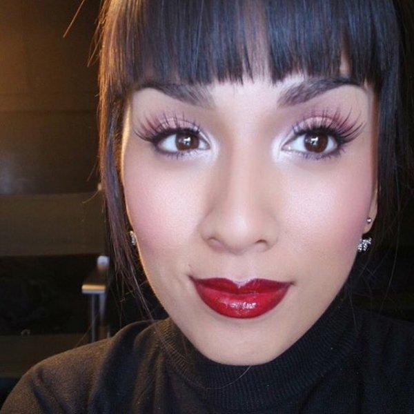 Michelle Almanza's Red Lip & Endless Lashes