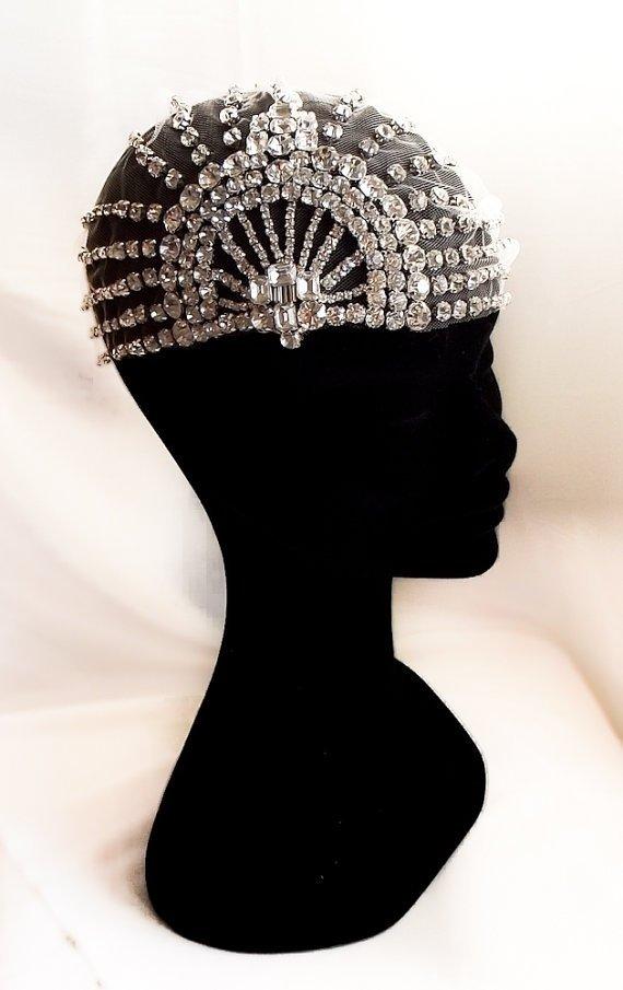Art Deco 1920's Tulle Headpiece