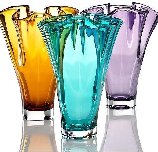 Lenox Crystal Vases in Fun Colors