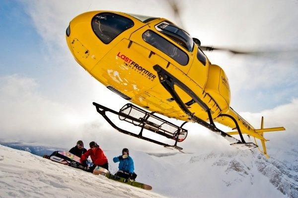 Heli-skiing