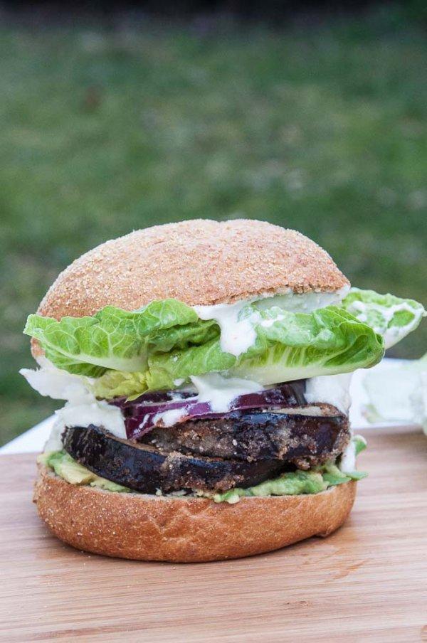 food, produce, dish, plant, veggie burger,