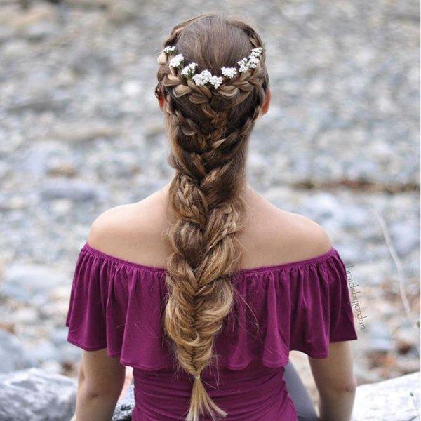 clothing, hair, hairstyle, purple, dress,
