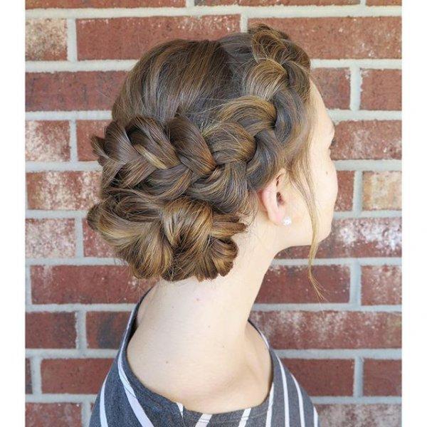 hair, hairstyle, long hair, french braid, head,