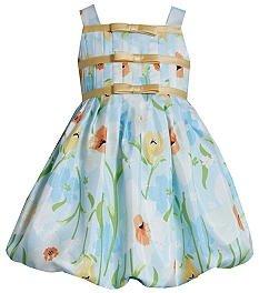Bonnie Jean Floral Shantung Bubble Dress