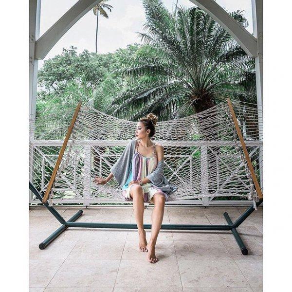 leisure, human positions, hammock, furniture, umbrella,