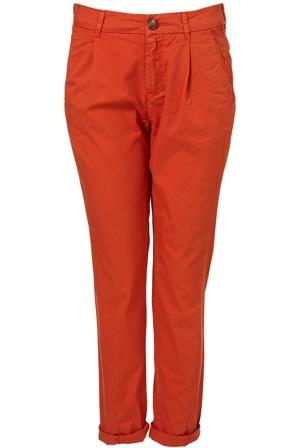 Topshop Orange Chino Trousers