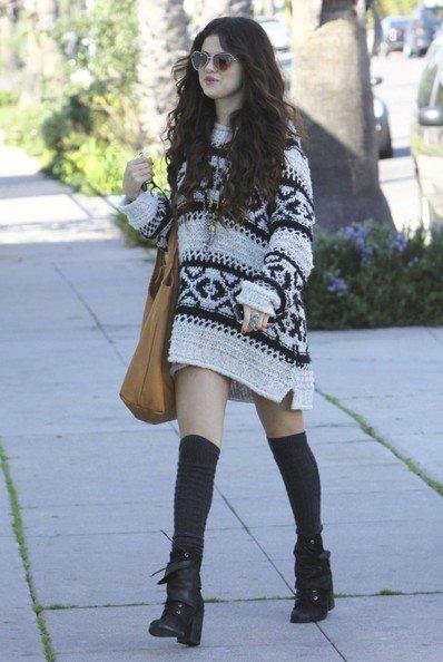 Sweater Dress + Tall Socks