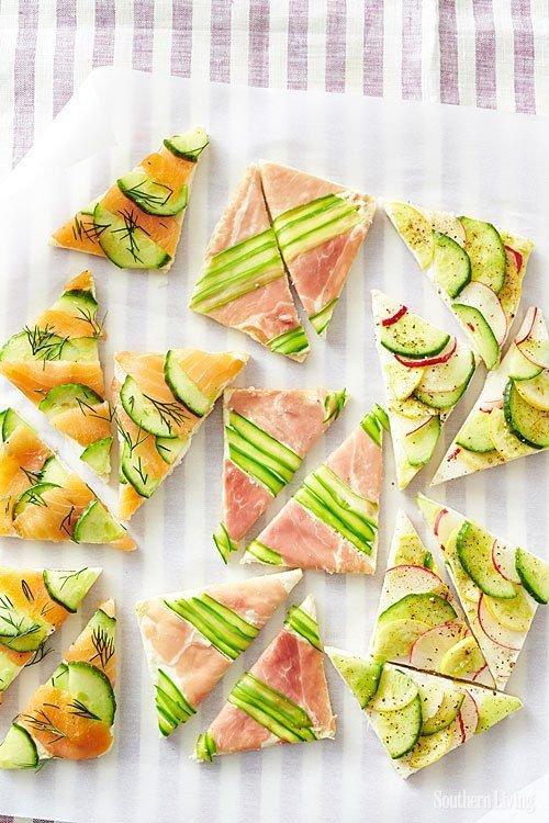 Delicious Mosaic Tea Sandwiches