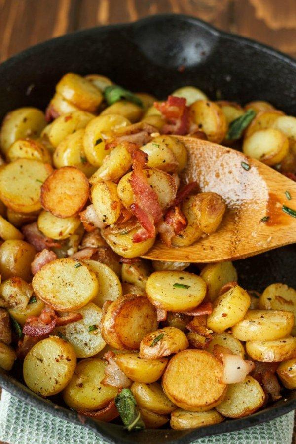 Pan-fried Fingerling Potatoes