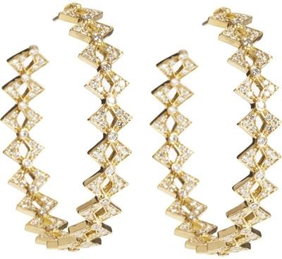 Deborah Pagani Jerry Hoop Earrings