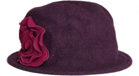 Abbey Flower Appliqué Hat