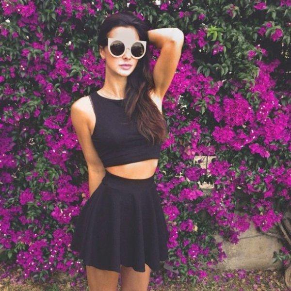 clothing, pink, purple, black hair, dress,
