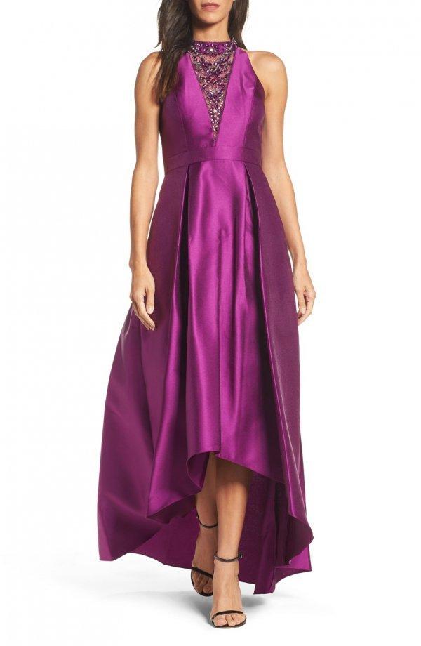 dress, day dress, purple, gown, magenta,