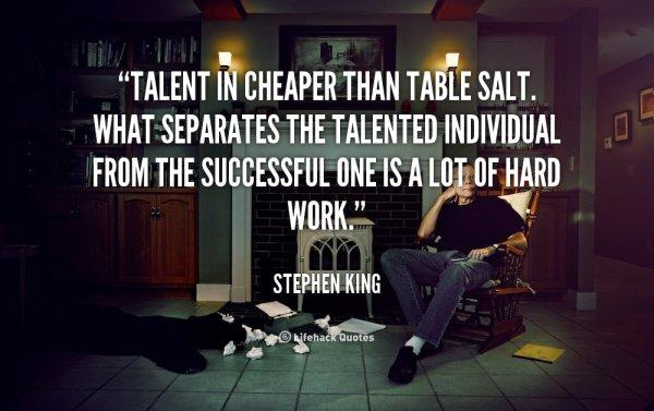Talent versus Hard Work