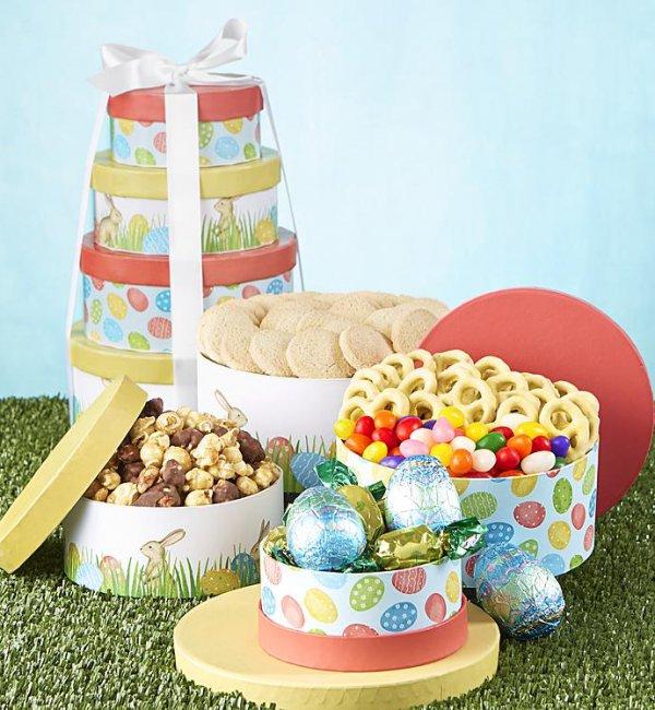 gift basket, food,