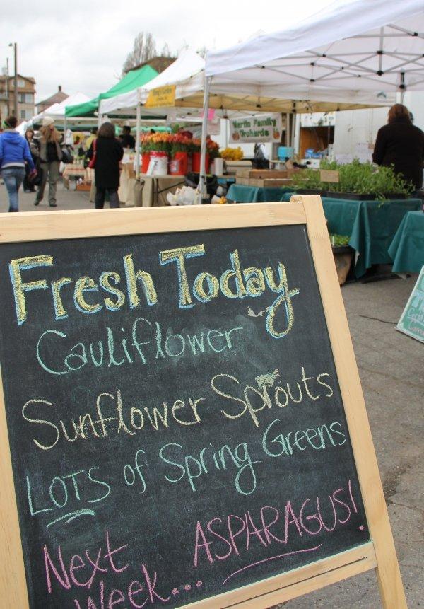 Seattle, Washington Farmer's Market at University District